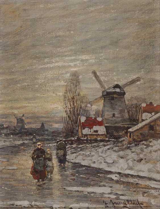 JUNGBLUT, JOHANN. Dutch Winter Landscape - photo 1