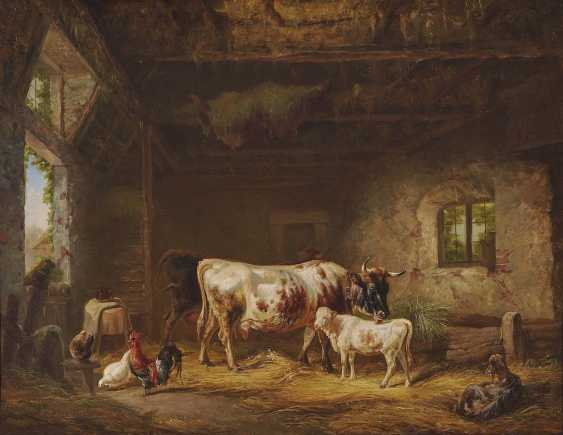 Reinhardt, Louis (Ludwig). Cows and chickens in the barn - photo 1