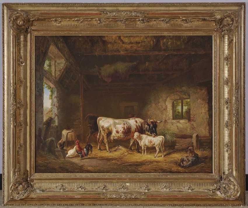 Reinhardt, Louis (Ludwig). Cows and chickens in the barn - photo 2
