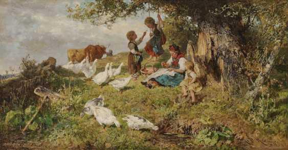 Monte Mezzo, Antonio Matteo. Dachauer peasant woman with children and geese - photo 1