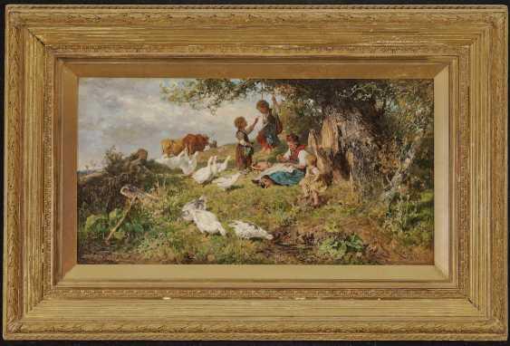 Monte Mezzo, Antonio Matteo. Dachauer peasant woman with children and geese - photo 2