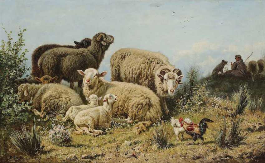 "BEUL, HENRI DE. ""Rest in the meadow"" - photo 1"