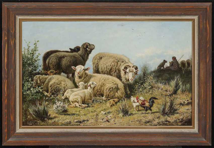 "BEUL, HENRI DE. ""Rest in the meadow"" - photo 2"