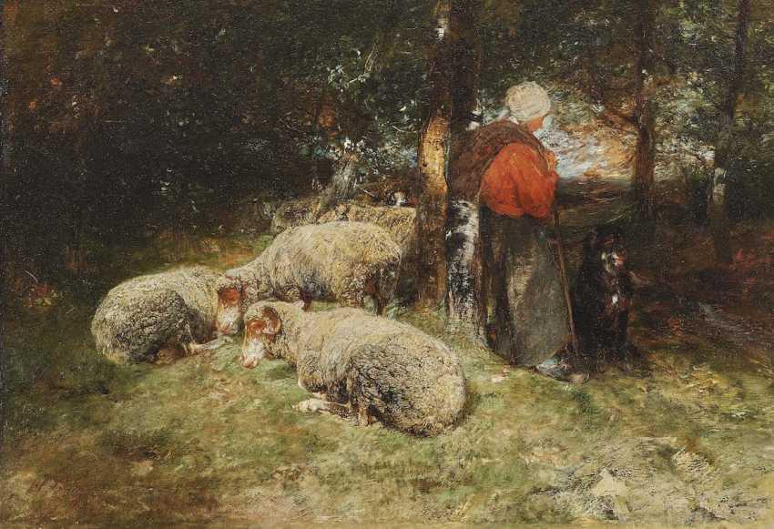 Zügel, Heinrich von. Resting in the forest - photo 1