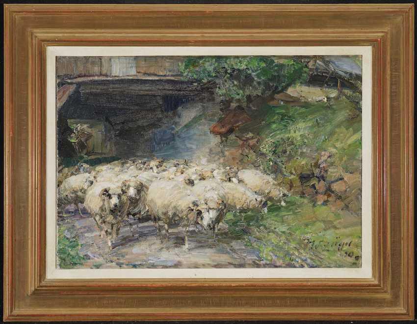 Zügel, Heinrich von. Wolkenhof - flock of sheep on the way through the drive-through - photo 2