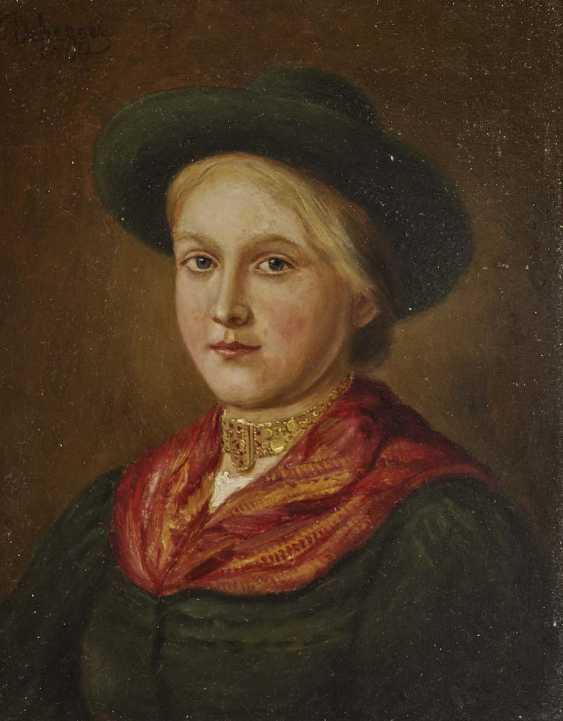 DefreGelbgolder, Franz von. Dirndl mit Hut und Kropfkette - photo 1