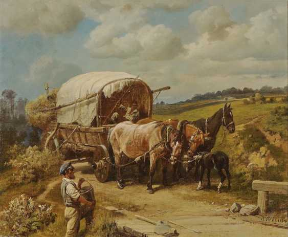 Kovalevsky, Pavel Osipovich. With a team of horses on the way - photo 1