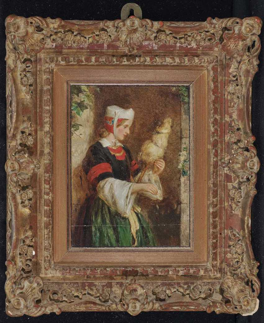 Hughes, Edward. Young woman with distaff - photo 2