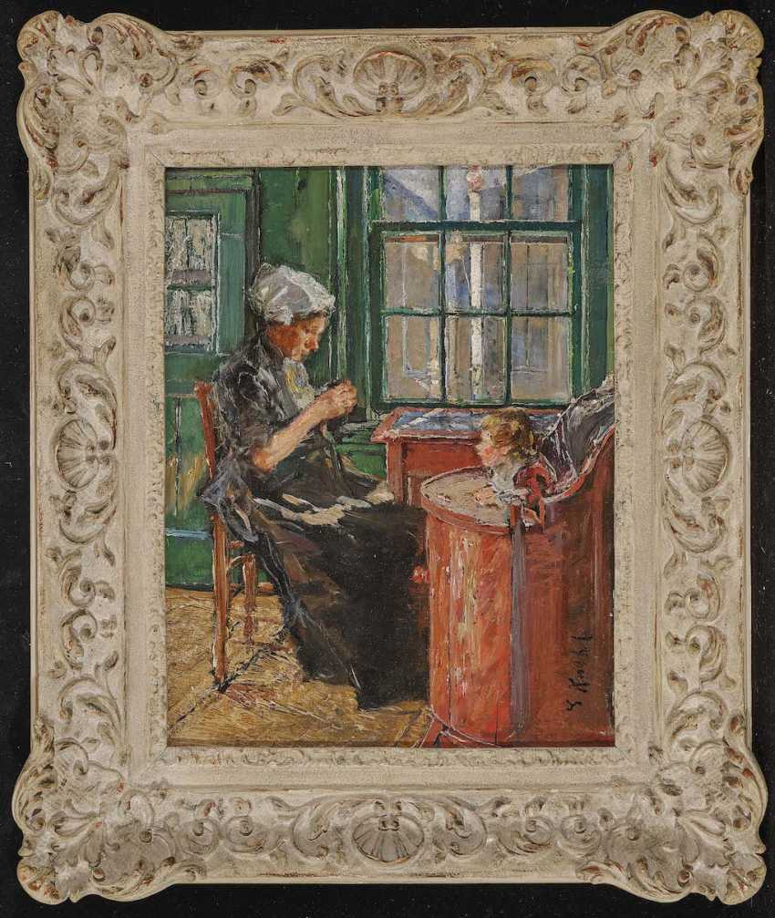 Kuehl, Gotthardt. Dutch seamstress with a child at the window - photo 2