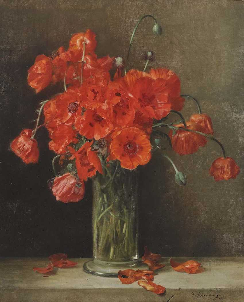 Schachinger, Gabriel. Poppies in a glass vase - photo 1