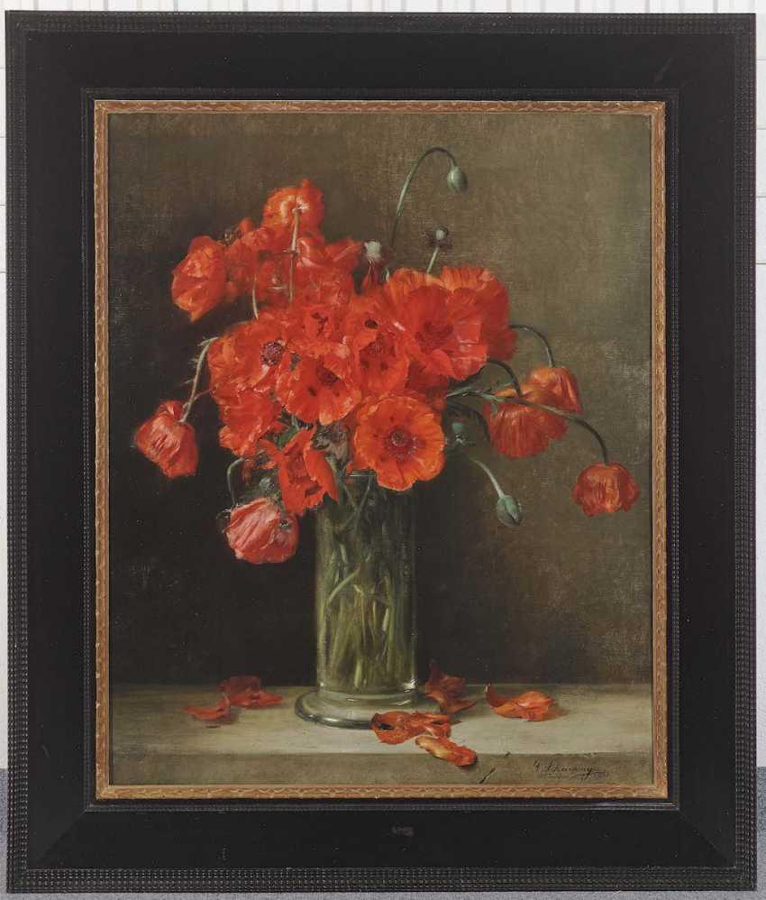 Schachinger, Gabriel. Poppies in a glass vase - photo 2