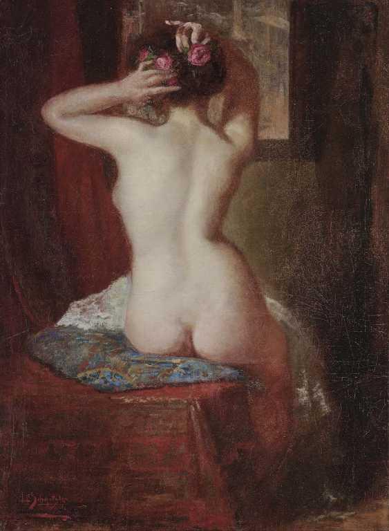 SCHMUTZLER, LEOPOLD. Female Nude Seen From The Back - photo 1