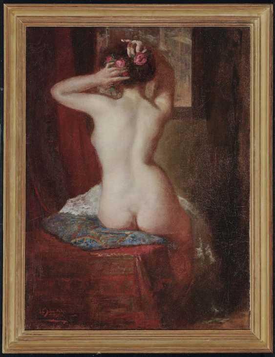 SCHMUTZLER, LEOPOLD. Female Nude Seen From The Back - photo 2