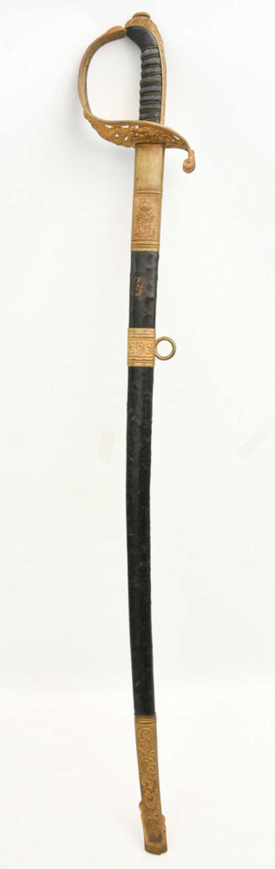 Parade saber, steel/brass/leather, Habsburg Empire 19. Century - photo 1