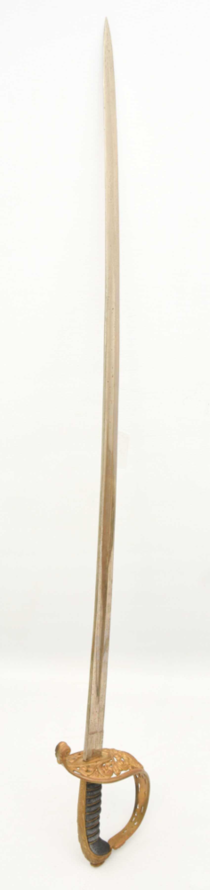 Parade saber, steel/brass/leather, Habsburg Empire 19. Century - photo 4