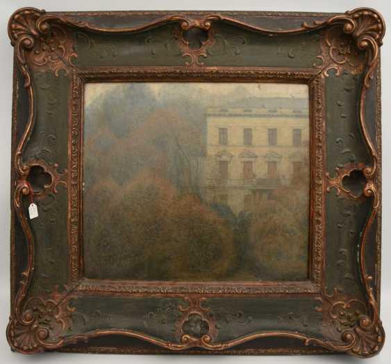 "KÜPPER: ""Villa in the Park"", Oil on fiberboard, framed and signed, 1895 - photo 1"