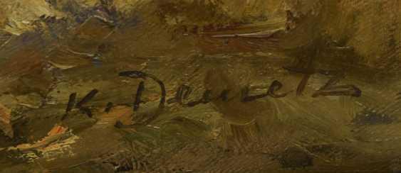 "KÜPPER: ""Villa in the Park"", Oil on fiberboard, framed and signed, 1895 - photo 3"