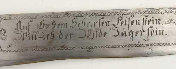 Huntsman knife/BRAXE, stag, leather, brass,steel, Bayern 2. Half of the 19th century. Century - photo 5
