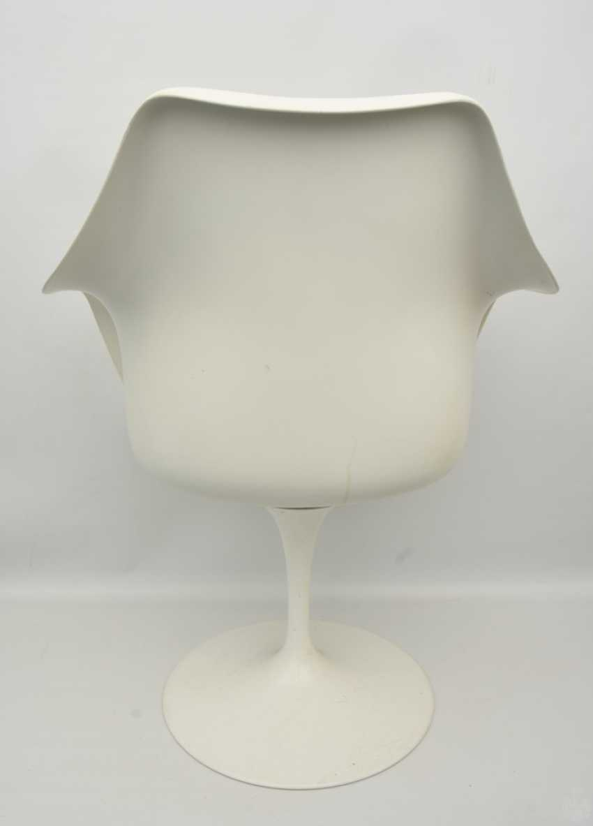 """KNOLL """"TULIP"""" CHAIR 2, with armrests, fiberglass/cashmere, 1990s - photo 3"""
