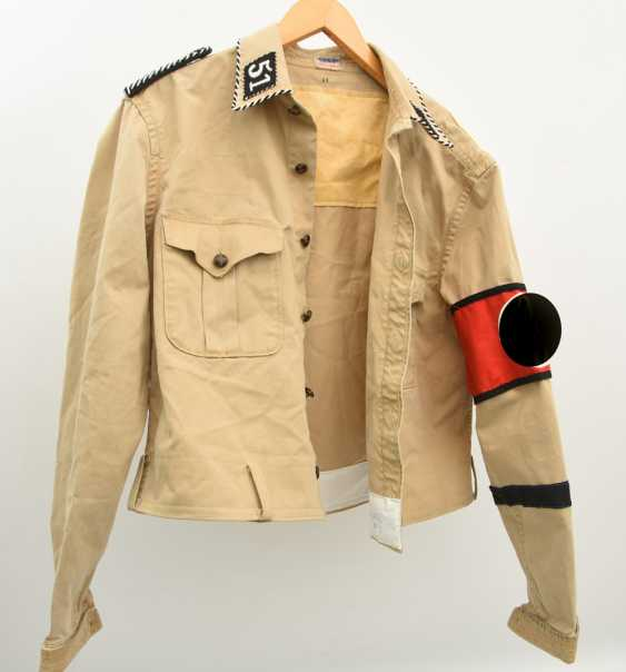SA JACKET, approx. Size 42, cotton/linen/metal, Third Reich in 1935 - photo 1