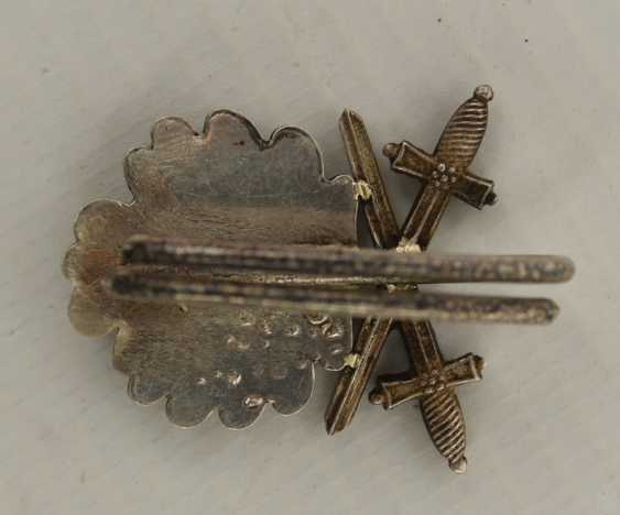 Oak leaves WITH SWORDS, silver, Third Reich-1940 - photo 2