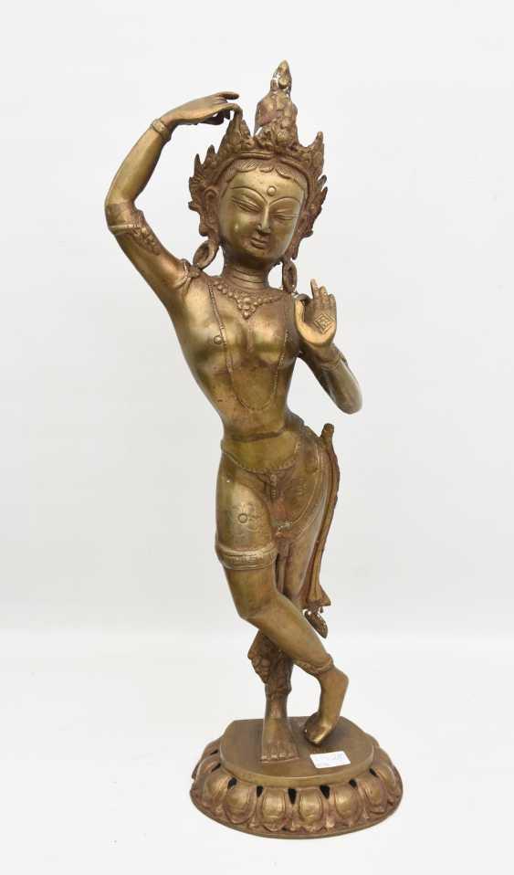 The temple dancer, Bronze, India 20. Century - photo 1