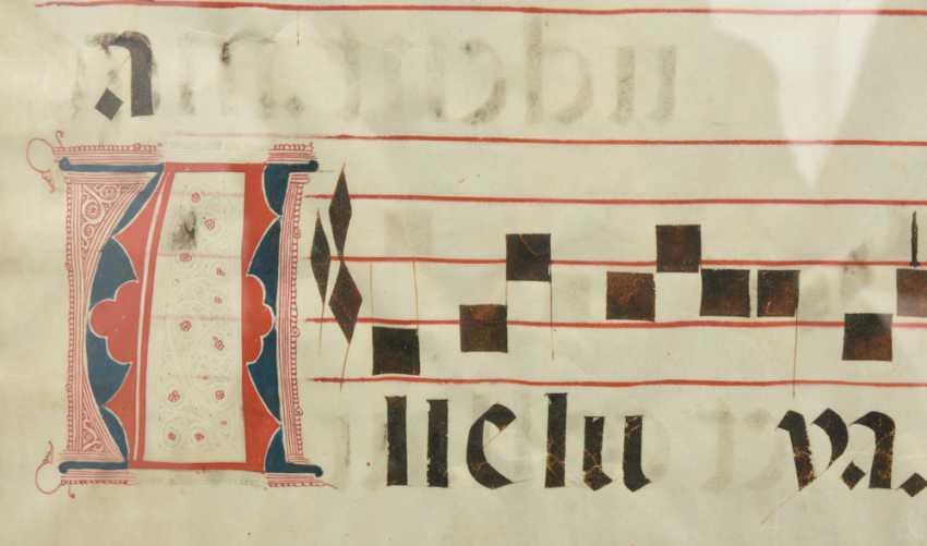 """CHORALE-PAGE"", ink on animal skin, German Empire 16. Century - photo 3"