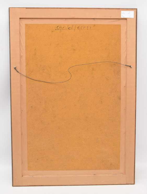 "RUDOLF-WERNER ACKERMANN: ""gold fern"", Oil on chipboard, framed and signed - photo 3"
