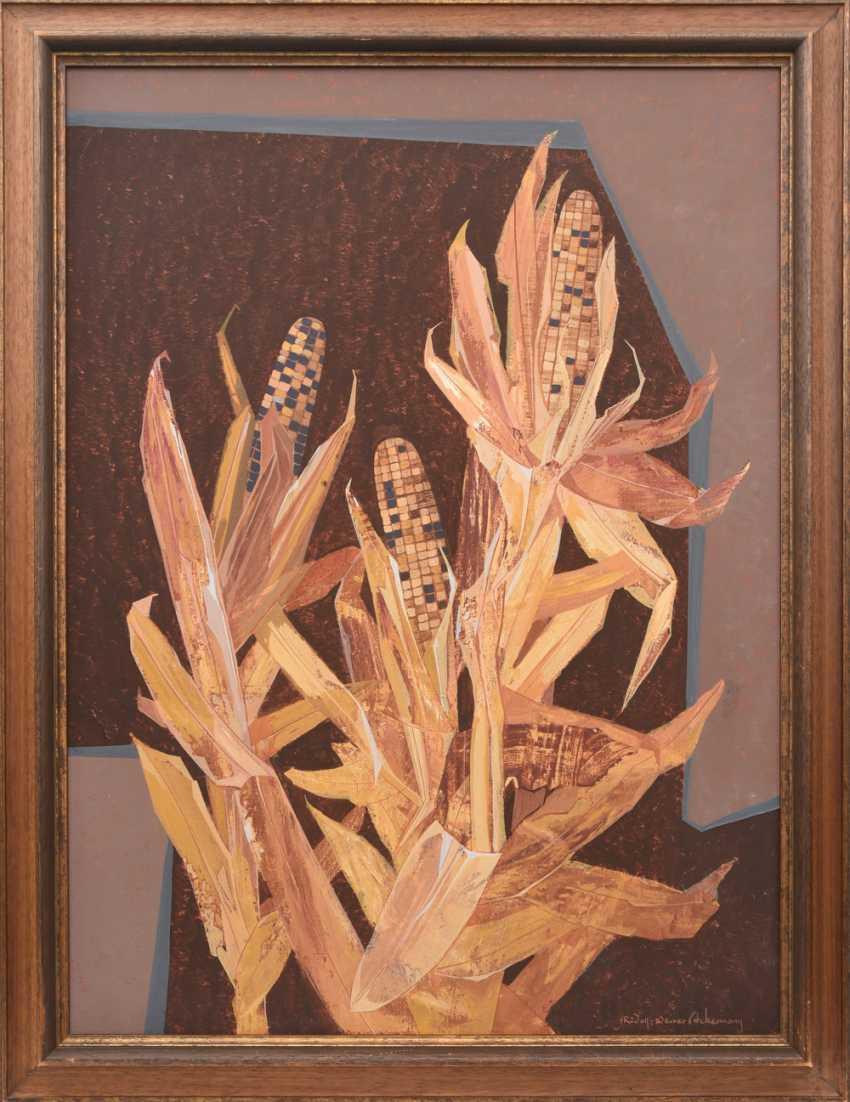 "RUDOLF-WERNER ACKERMANN:""RIPE CORN"", Oil on canvas, framed and signed - photo 1"