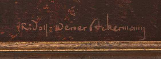 "RUDOLF-WERNER ACKERMANN:""RIPE CORN"", Oil on canvas, framed and signed - photo 2"