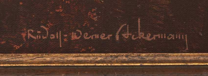 "RUDOLF-WERNER ACKERMANN:""RIPE CORN"", Oil on canvas, framed and signed - photo 4"