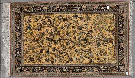 CARPET QUM silk on Cotton, Central Persia, 1970 - photo 1