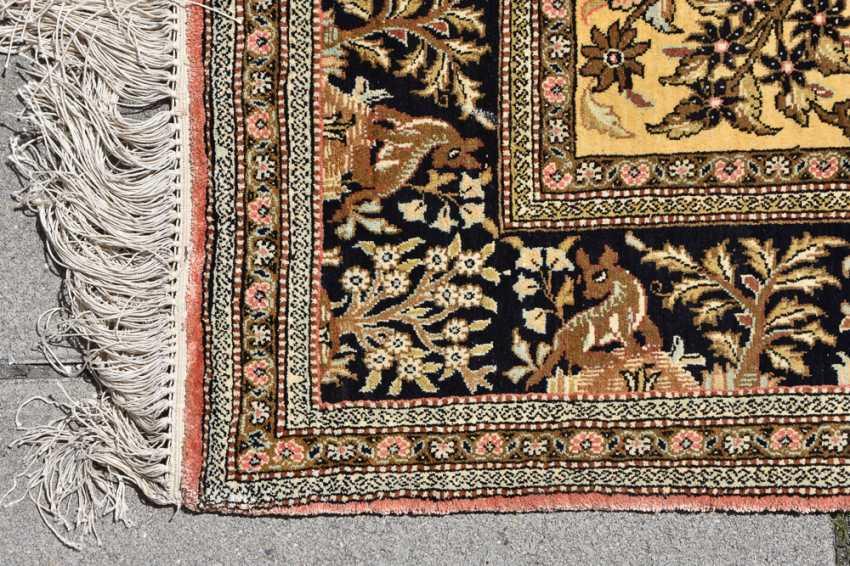 CARPET QUM silk on Cotton, Central Persia, 1970 - photo 7