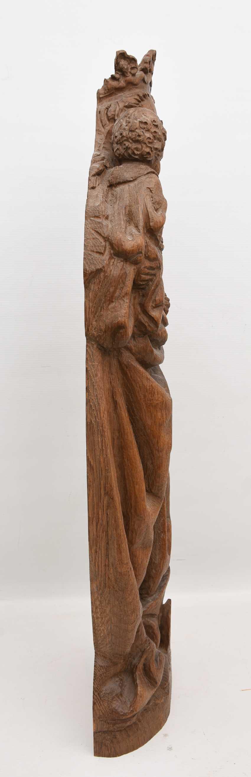 OSNABRÜCK MADONNA, copy after the Original, beschnitztes wood, antique stained, Oberammergau, 20. Century - photo 2