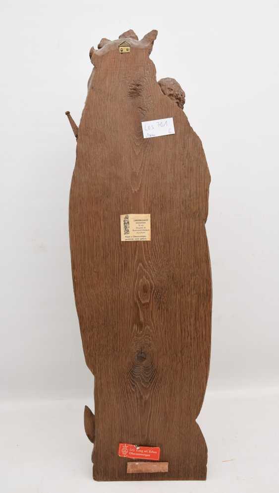 OSNABRÜCK MADONNA, copy after the Original, beschnitztes wood, antique stained, Oberammergau, 20. Century - photo 3