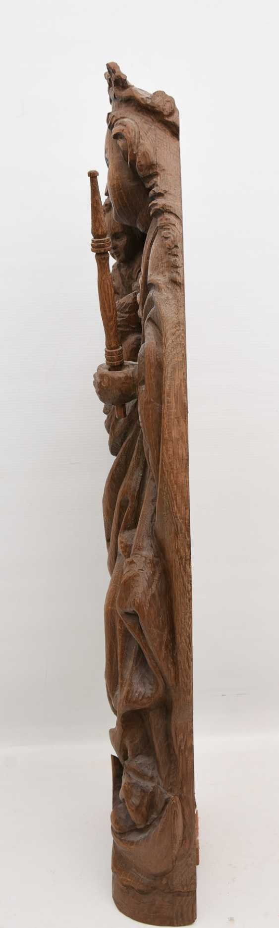 OSNABRÜCK MADONNA, copy after the Original, beschnitztes wood, antique stained, Oberammergau, 20. Century - photo 4