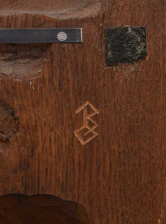 "Bracket figure ""MADONNA"" beschnitztes wood, monogrammed, Germany 20. Century - photo 4"