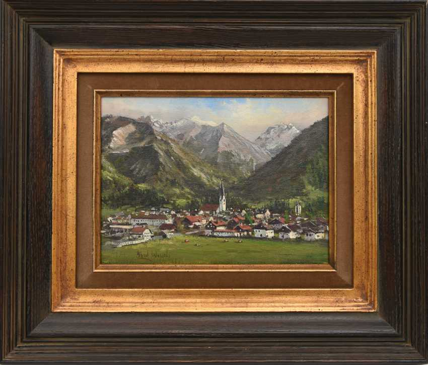 "ALBERT WESSELS:""Oberstdorf"", Oil on canvas, framed and signed - photo 2"
