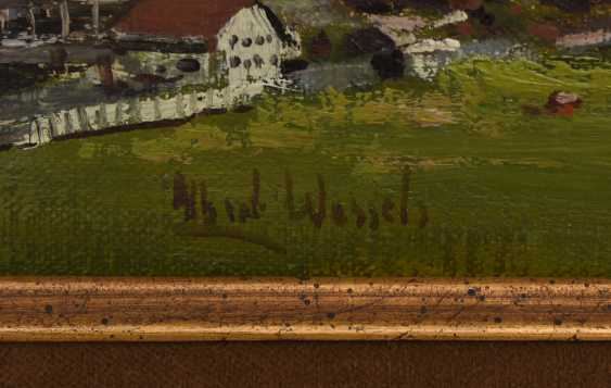 "ALBERT WESSELS:""Oberstdorf"", Oil on canvas, framed and signed - photo 3"