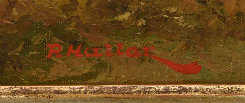 "PAUL HALLER:""Allgäuer Säuling"", Oil on canvas, framed and signed - photo 2"