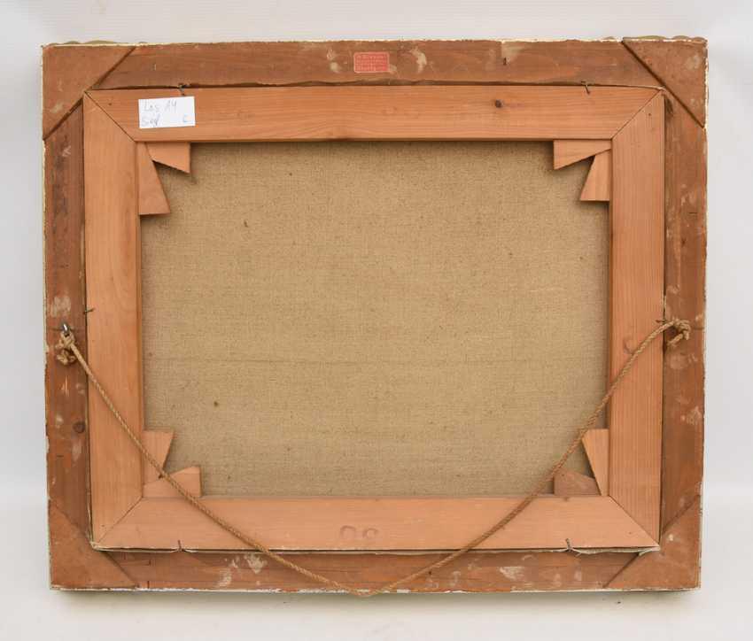 "PAUL HALLER:""Allgäuer Säuling"", Oil on canvas, framed and signed - photo 3"
