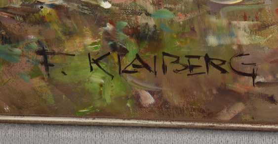 "FRIEDRICH KLAIBERG:""ducks on lake"", Oil on canvas, framed and signed - photo 2"