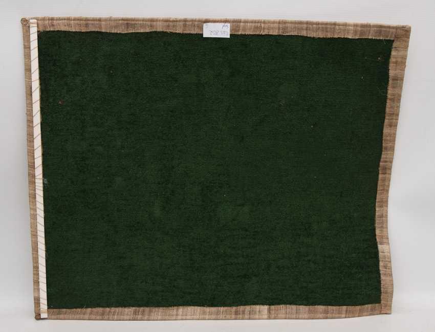 KNÜPFBILD/wall carpet, felt,wool, signed,yarn, and dated - photo 4