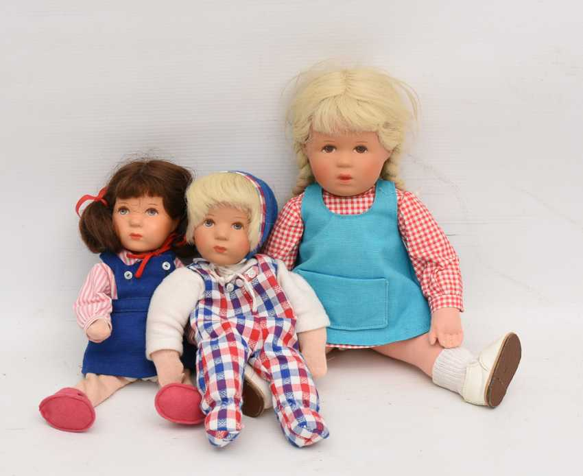 DOLLS VINTAGE cloth/human hair, Germany, 20. Century - photo 1