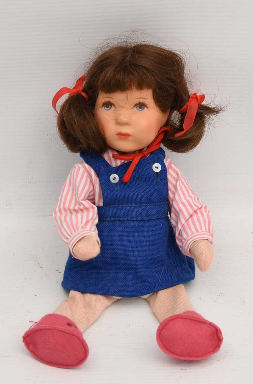DOLLS VINTAGE cloth/human hair, Germany, 20. Century - photo 2