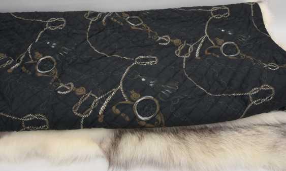 Fur blanket, raccoon dog/silk fabric, 21. Century - photo 3