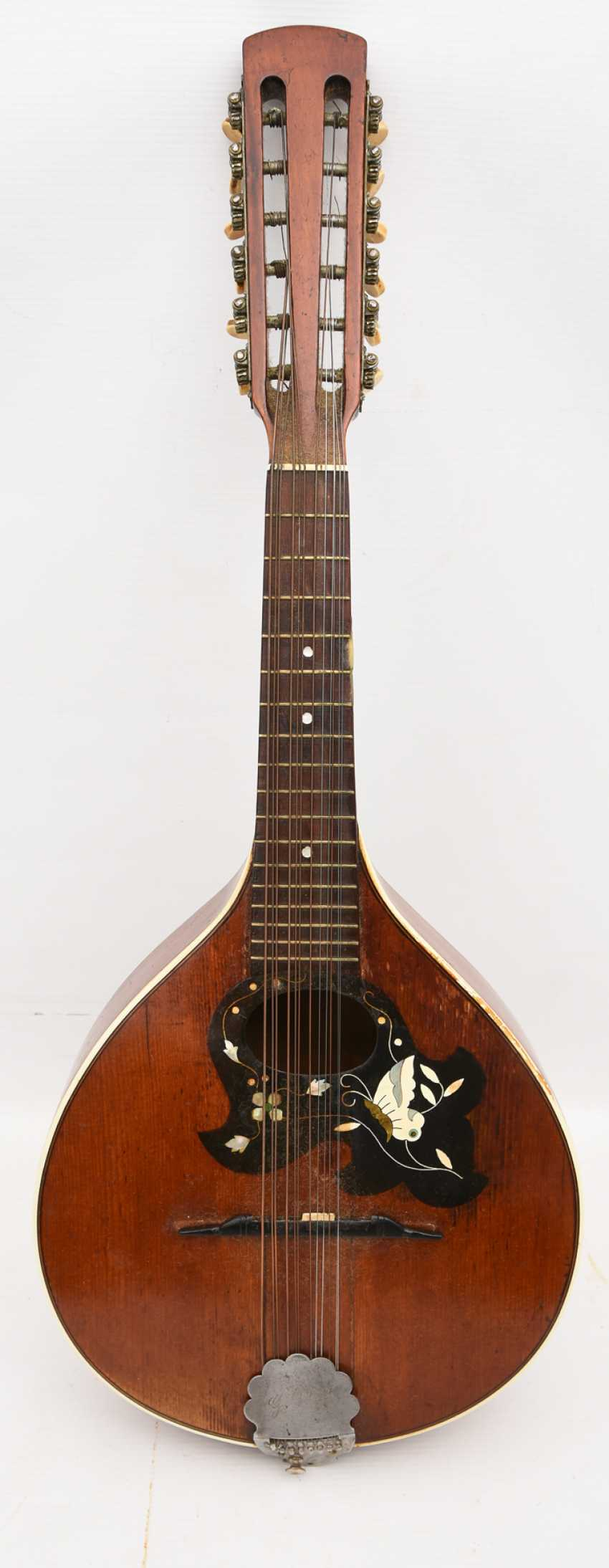 Gold tone MANDOLIN, with inlaid, Germany 1. Half of the 20. Century - photo 2
