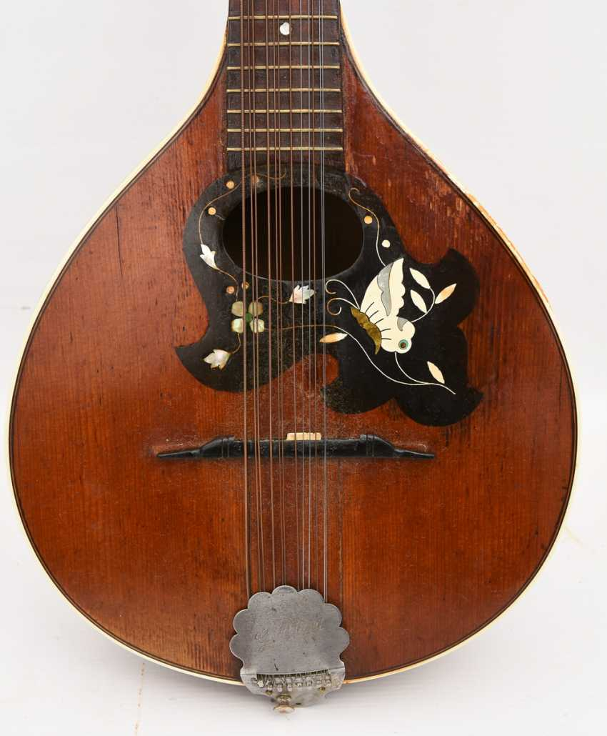 Gold tone MANDOLIN, with inlaid, Germany 1. Half of the 20. Century - photo 3