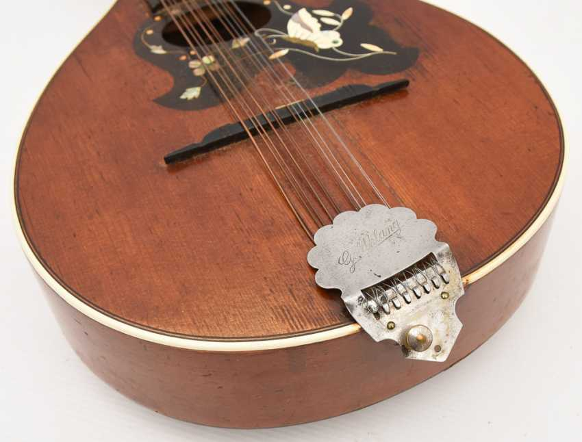 Gold tone MANDOLIN, with inlaid, Germany 1. Half of the 20. Century - photo 5