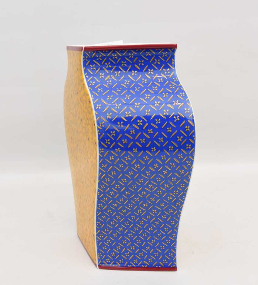 """ROSENTHAL STUDIO LINE VASE """"KUSUMAM"""", Designer Tadao Amano, painted/glazed equipped/gold, marked, 21. Century - photo 7"""